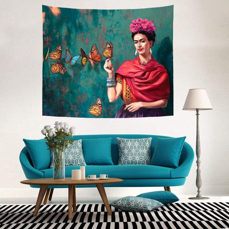 Bob Marley Frida Kahlo Chakra Pattern Tapestry Bedding Room Decorative Wall Hanging Mural Picnic Towel Mat Painting Beach Towel