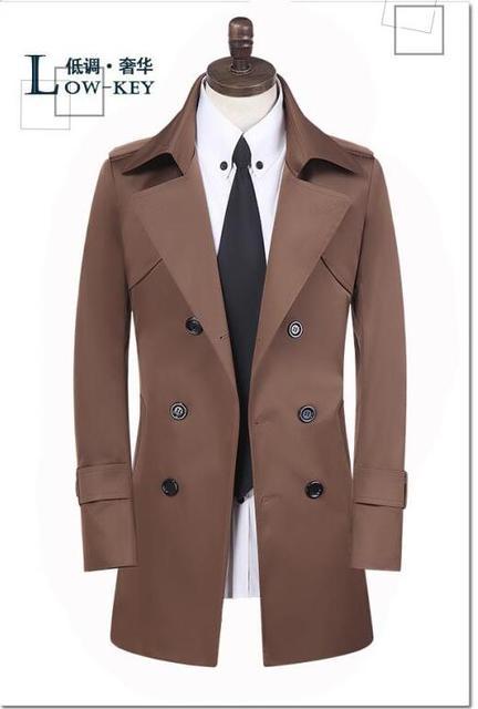 Primavera adolescente de negocios atractivo delgado hombres gabardina abrigo veste homme doble botonadura prendas de vestir exteriores larga de la manga más el tamaño S-9XL