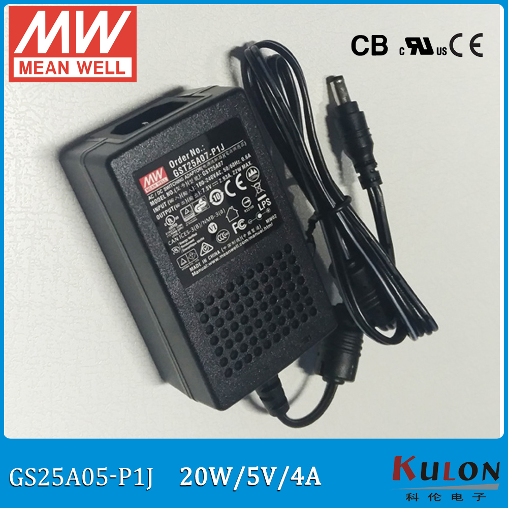 Original Meanwell GST25A05-P1J 20W 5V 4A Level VI  Meanwell industrial desktop Adaptor Output Interface 5.5mm*2.1mm 2 pole inlet bourke a rendall j a lion called christian level 4 2cd