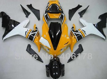 Yzf 1000 R1 02 03 fairing body kit For Yzf R1 2002 2003 Race Yellow and White Fairings (Injection molding)