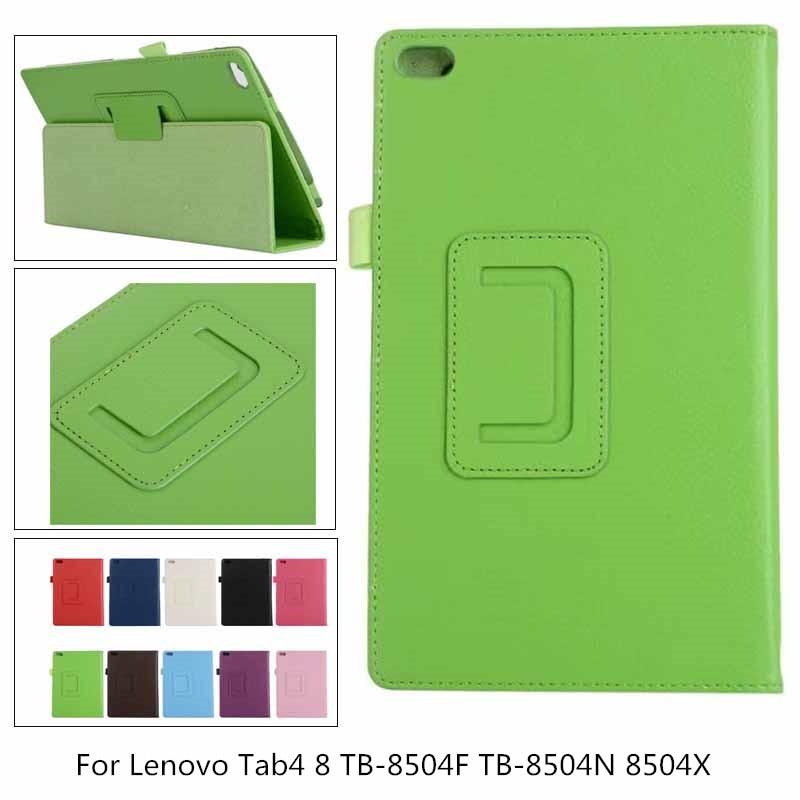 For Lenovo Tab 4 8 2017 TB-8504 Case Flip Litchi PU Leather Cover For Lenovo Tab4 8 TB-8504F TB-8504N 8504X Tablet Folio Case