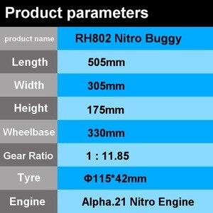 Image 2 - RC off road VRX Corse RH802 VRX 2 1/8 nitro RTR 4WD buggy, force.21 nitro motore nitro telecomando giocattoli auto, nitro potenza