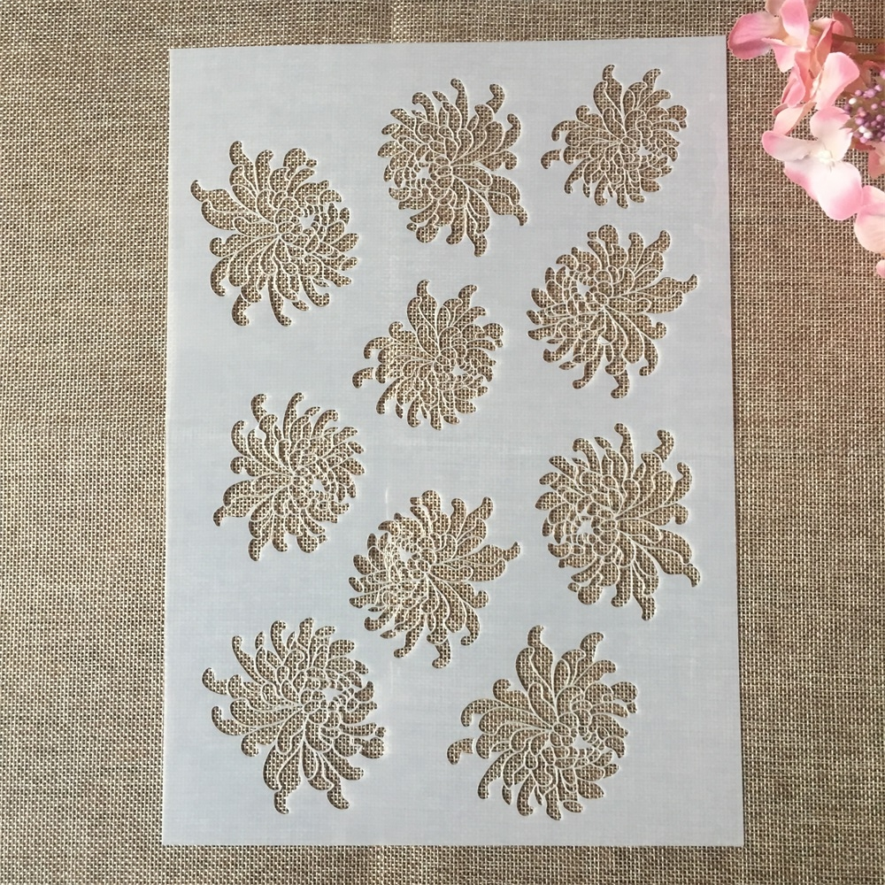 29*21cm A4 Daisy Flower DIY Layering Stencils Painting Scrapbook Coloring Embossing Album Decorative Card Template