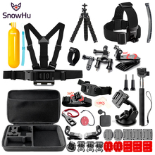 SnowHu For Gopro Hero Y84 Accessories Large bag Selfie stick Headband Antifog set For Go pro hero 6 5 4 for EKEN H9 xiaomi yi