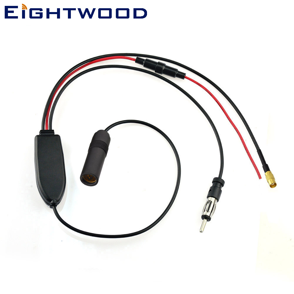 Eightwood Conversion DAB + Antenna splitter adapter for Car radio FM/AM Converts DAB Band III