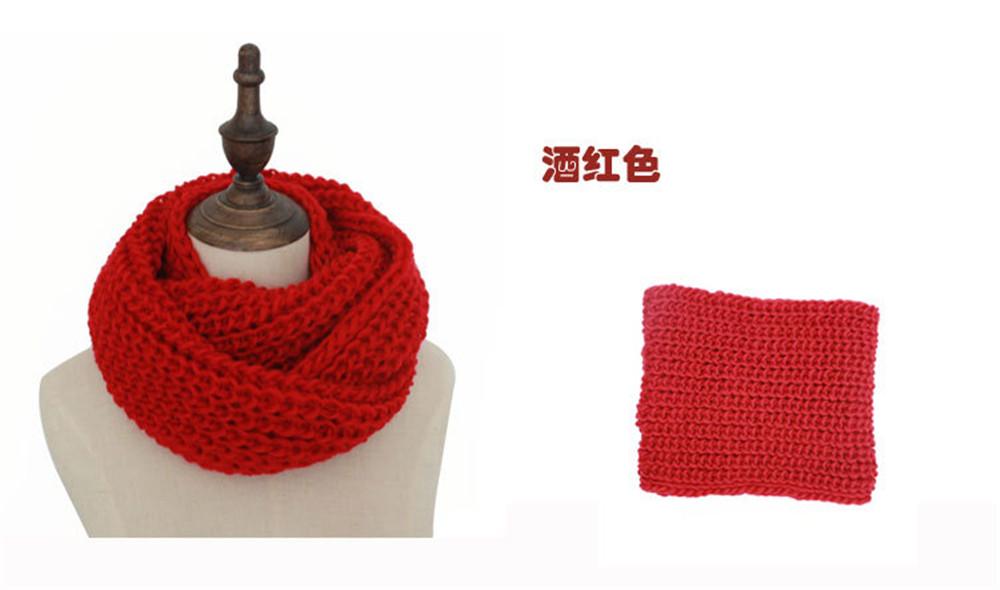 Moda infinito invierno bufanda redecilla tejido lazo/anillo Soft ...