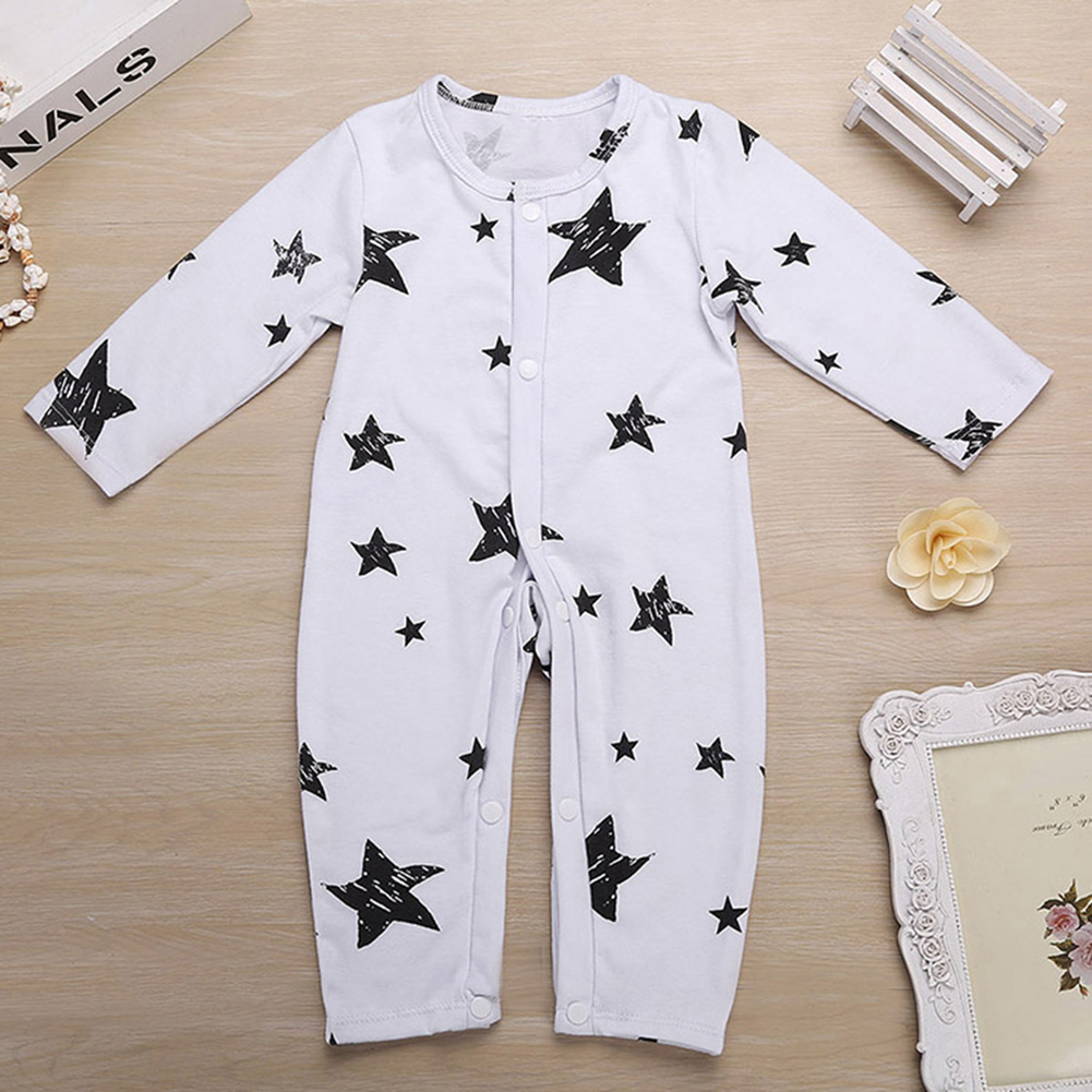 2017 New Baby Infant Toddler Kids Rompers Star Print Long Sleeve Rompers Baby Jumpsuit Newborns Winter Cotton Clothes For 0-24M newborn baby rompers baby clothing 100% cotton infant jumpsuit ropa bebe long sleeve girl boys rompers costumes baby romper