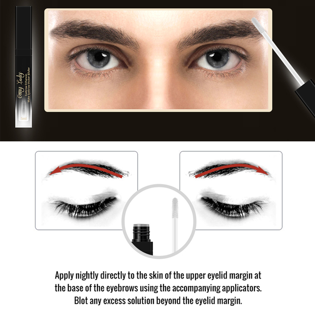 OMY LADY Eyebrow Growth Serum Longer Fuller Thicker Nourishes Eyebrow Enhancer Eyelash Makeup Eyebrows Fuller Longer Cosmetics 5