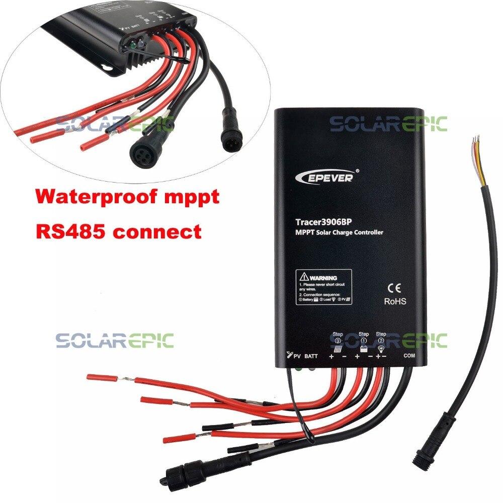 Epever 15A MPPT Solar Charge Controller 12V 24V Waterproof Regulator TracerBP Lithium Battery MPPT Controller 60V