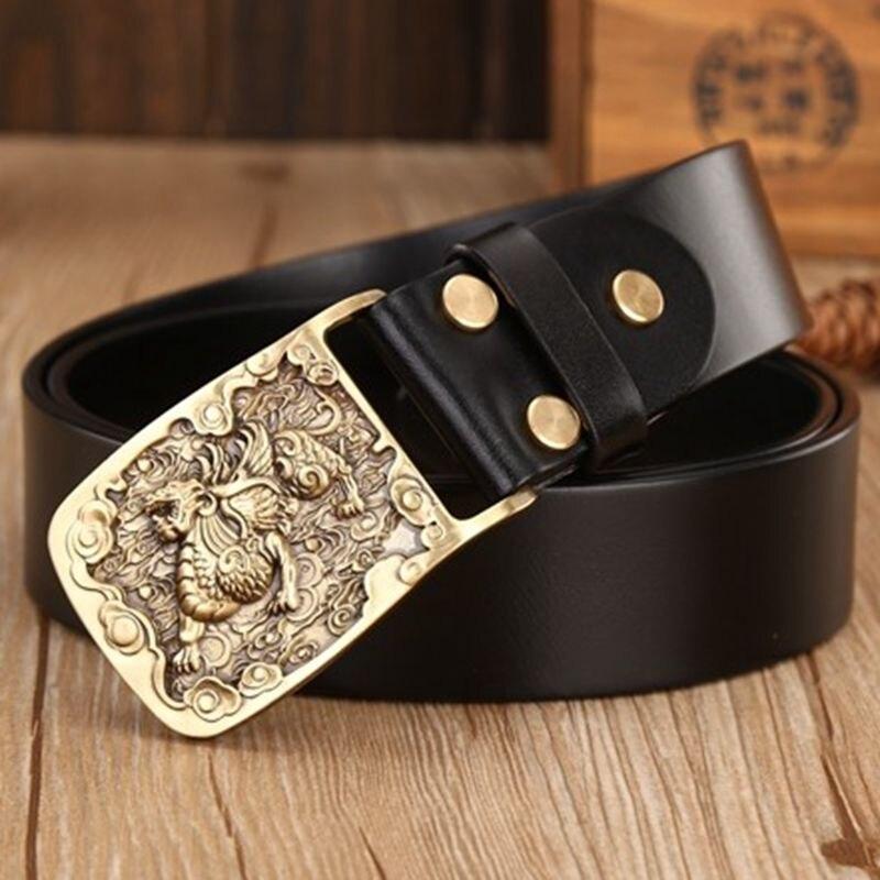 2018 cinturones hombre marca famosa manuel casual pleine fleur large ceinture  véritable bracelet en cuir 115 cm desinger ceintures hommes jeans dans ... b69ba97fc87