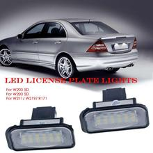 2 шт. Автомобильный светодиодный фонарь для номерного знака для Mercedes Benz W203 5D W211 W219 R171(Canbus) Автомобильный светильник, аксессуары