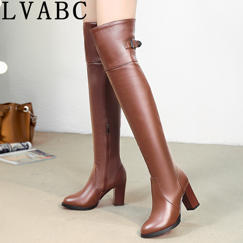LVABC Quality PU Suede Women Boots over knee Long Boots Women High Boots  Short Plush Stretch Fabric Fashion Women Boots Size 37|Over-the-Knee Boots|  - AliExpress