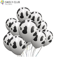 100 Pcs/lot Cartoon Animals Globos Cow Print Latex Balloons for Farm Theme Birthday Party Decorations Baby Shower Supplies
