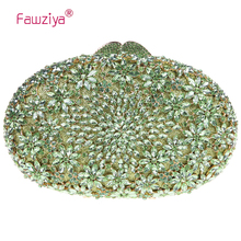 Fawziya Quilted Bag Floral Egg Shape Crystal Clutch Purse Party Clutches Online