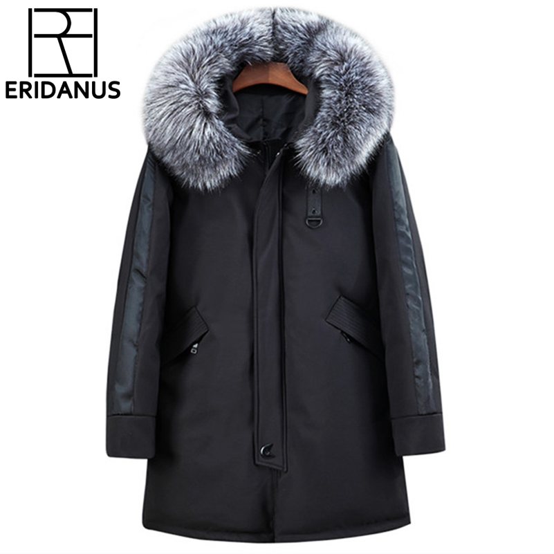 Winter Parka Men Jacket Cotton Warm Padded Long Thick Warm Coat Casual Winter Jacket Men With Raccoon -20 Collar Big Size X606 new men jackets winter cotton padded jacket men s casual zipper warm parka fashion stand collar thicken print outerwear coat