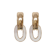 South Korea geometric metal earrings delicate popular girl beautiful Unique new wholesale contracted