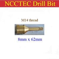 [M14 thread] 8mm diameter NCCTEC Diamond Vacuum Brazed drill Bits CD8VBM14 FREE shipping | 0.31'' 5/16'' drill coring tools