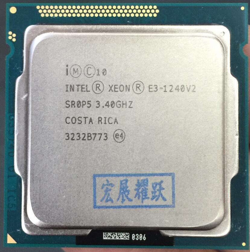 Processeur Intel Xeon E3-1240 V2 E3 1240 V2 Quad-Core LGA1155 PC ordinateur de bureau CPU