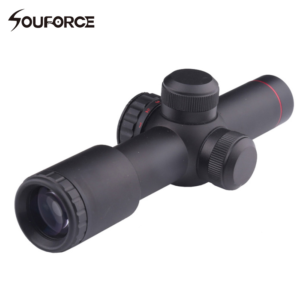 Tactical Optical Sight Scope None-Illumination 4.5X20E Mil Dot One-piece Hunting Riflescope with 1 Pair Scope Ring Lens Cover leapers utg 3 9x32 1maol mil dot hunting riflescope with sun shade tactical optical sight tube hunting equipment for hunter