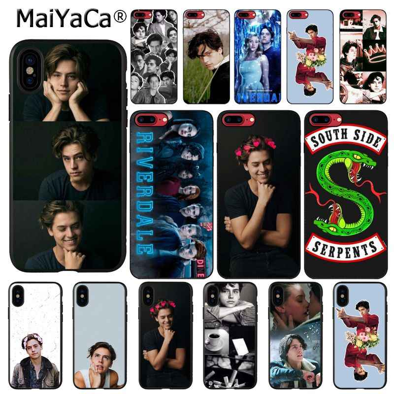MaiYaCa American TV Riverdale Series Cole Sprouse Pattern Soft Phone Case for iPhone X XS MAX 6 6S 7 7plus 8 8Plus 5 5S XR 10