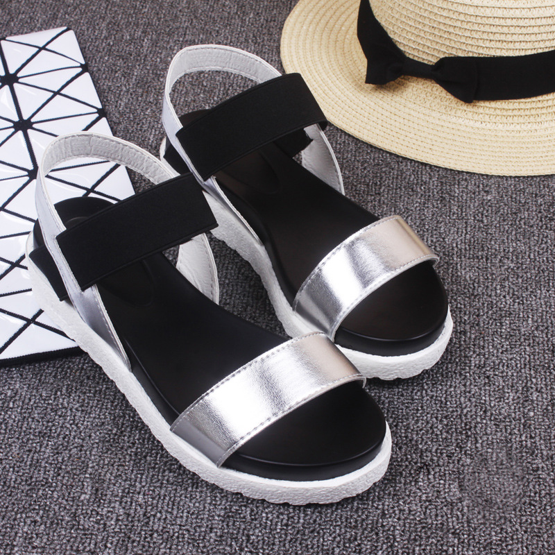 Women Beach Sandals Summer Casual Flat Shoes Roman Sandals Footwear Gladiator women s shoes 2017 summer new fashion footwear women s air network flat shoes breathable comfortable casual shoes jdt103
