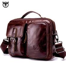 Men Genuine Leather Bag Real Leather Bri