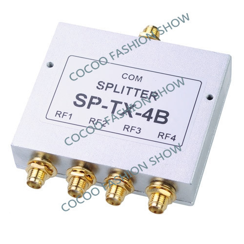 New 4 Way Power Splitter 800-2500MHz SMA RF Power Splitter power divider booster accessory mobile phone booster