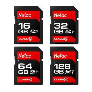 Original Netac 16GB 32GB SDHC Memory Card Class 10 U1 64GB 128G SD SDXC Card 80MB/s For Camera & DV & Laptop,High Speed! P600