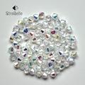 AB cristal Bicone Esferas 5328/5301 100 PÇS/LOTE 4mm Checa Soltos Contas de Cristal/Vidro Lapidado Beads para a Jóia DIY colar Pulseira