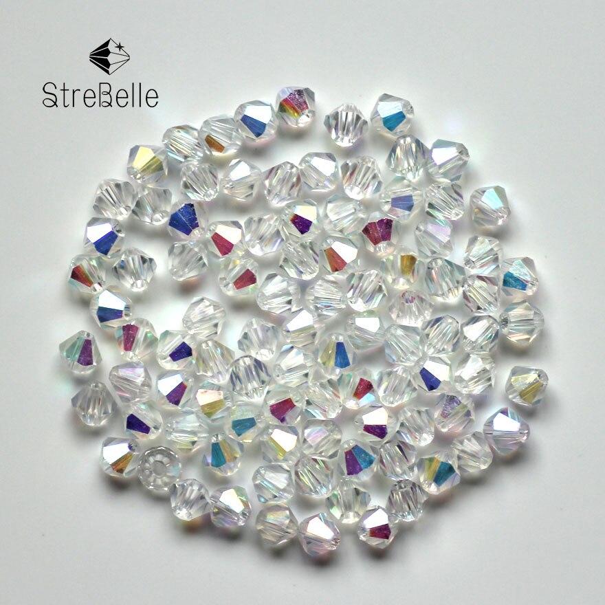 Diy Beads: Crystal AB Bicone Beads 5328/5301 100PCS/LOT 4mm Czech