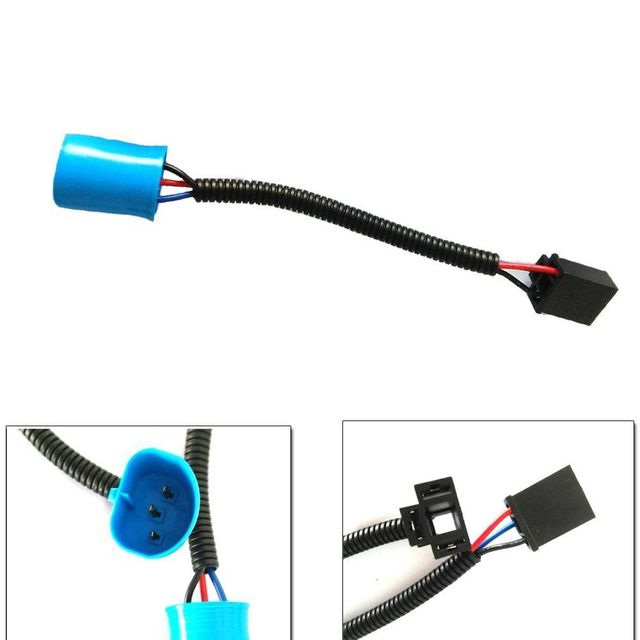 pair 9007 male to h4 female adapters headlight conversion cable wiring  harness adapters for hummer h2
