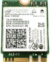 Intel Dual B And 31603160NGW Wireless-AC 3160 3160ac ac3160 802.11ac Wi-Fi +บลูทูธสำหรับA SUS UX301LA NGFFการ์ดเครือข่ายไร้สาย