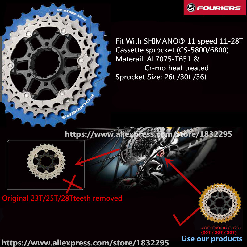 MTB Mountain Bike Bicycle 11S Cassette Freewheel 26/30/36T Teeth Crankset Bicycle Parts 141g   use RD-6800-GS/105 RD-5800-GS  mtb mountain bike bicycle 10s cassette freewheel 8 speeds flywheel 11 13 15 18 21 24 28 32 36t teeth crankset
