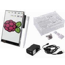 Elecrow 5 in 1 Raspberry Pi 3 Starter Kit 3.5″ Display Touch Screen/Case/Heatsinks/Micro USB with On/Off Switch/ US/EU/UK Power