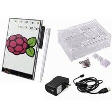 """Elecrow Ahududu Pi 3 Başlangıç Kiti 5 in 1 3.5 """"Ekran Dokunmatik Ekran/Case/Soğutucular/Mikro USB ile On/Off Anahtarı/ABD/AB/İNGILTERE Güç"""
