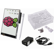 Best Buy Elecrow Raspberry Pi 3 Starter Kit 5 in 1 3.5″ Display Touch Screen/Case/Heatsinks/Micro USB with On/Off Switch/ US/EU/UK Power