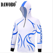 Outdoor sport Hooded Long sleeves Mens Fishing Apparel Anti-UV protection Hiking clothes  Anti-mosquito shirt