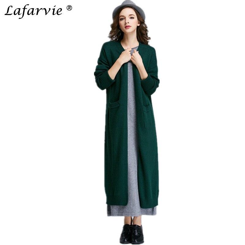 Automne Nouveau Lafarvie Femmes V bleu vert Cachemire Col Version Cardigan Tricot Longue De Chemise Coréenne Femelle 2019 Mince Offre Spéciale rouge Mode rose En Chandail Fourrure Noir pqSUVzM