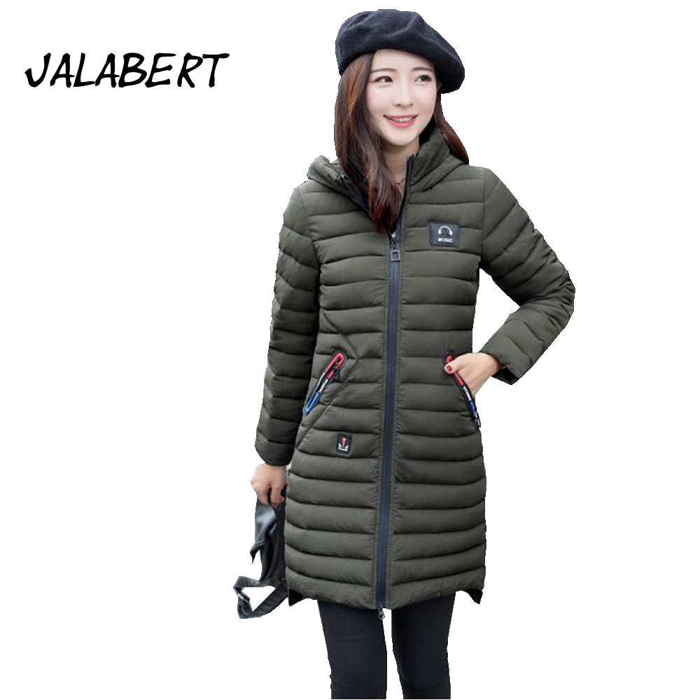 2017 Limited Full Zipper Thick Winter New Cotton Women Solid Color Long Jacket Female Slim Thicker Large Size Hooded Overdress 2017 limited full zipper solid winter new cotton jacket women slim hooded large fur collar female fashion warm parkas overdress