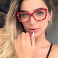 Frauen Metall Beine Designer Optische Brillen Rezept Acetat Rim Brille für Frauen Brillen Gläser Rahmen Mode-Stile