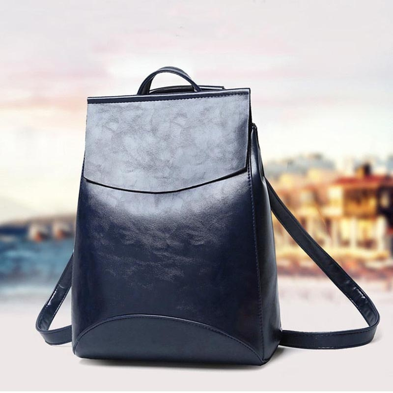 Fashion High Quality Women Backpack Real Leather Lady Backpack High Quality Girls School Bags RHB017 sunny shop new flower women drawstring backpack fashion school lady casual print backpack high quality pu leather school bag