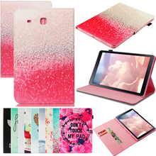 Tablet T560 Funda For Samsung Galaxy Tab E 9.6 Luxury Cartoon Leather Wallet Magnetic Flip Case Cover Coque Shell Skin Stand