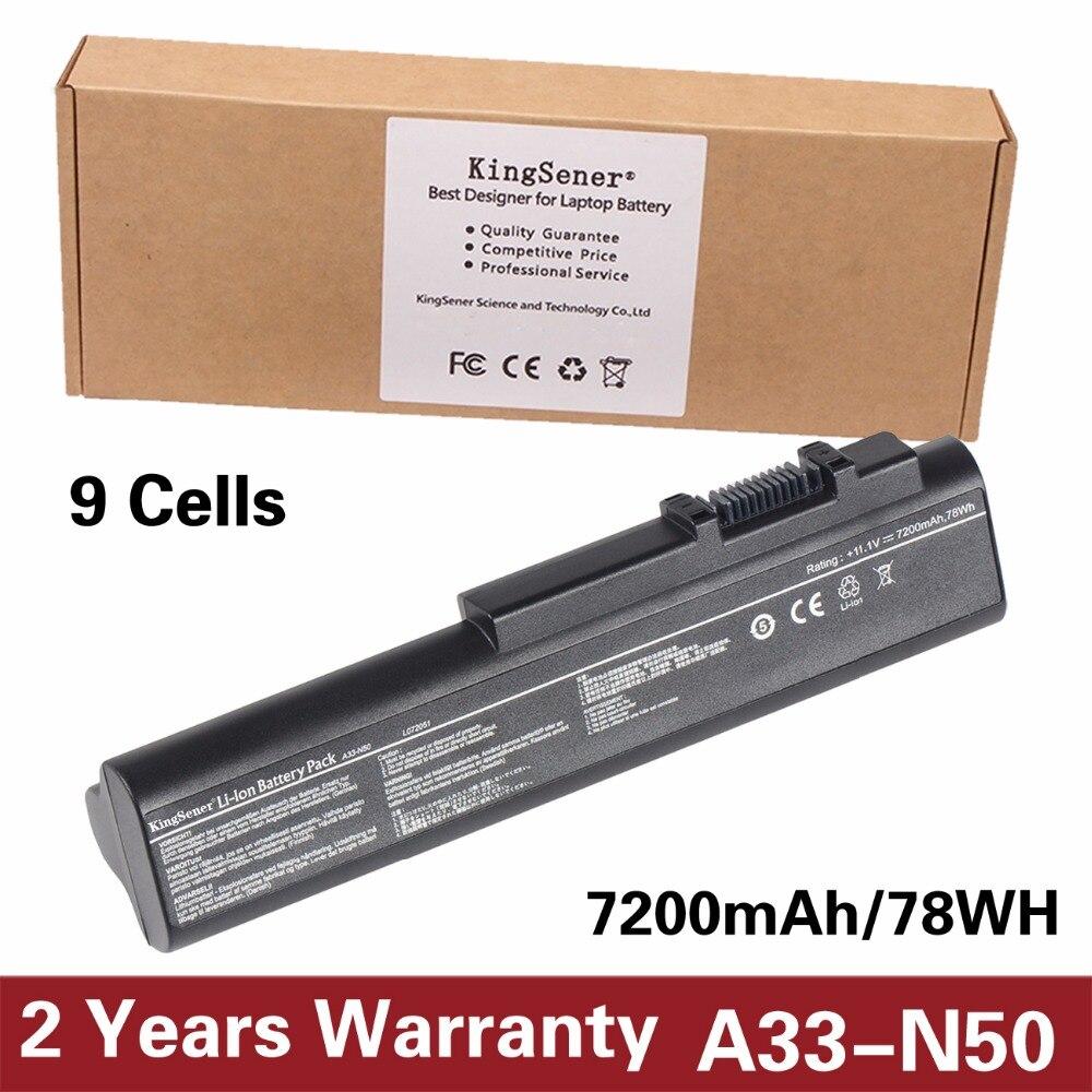 KingSener Korea Cell New A33-N50 Laptop Battery for ASUS N50 N50VN N50V N50VC N51V N51A N51S A32-N50 A32-N50 11.1V 7200mAh/78WHKingSener Korea Cell New A33-N50 Laptop Battery for ASUS N50 N50VN N50V N50VC N51V N51A N51S A32-N50 A32-N50 11.1V 7200mAh/78WH