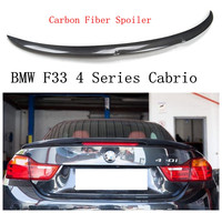 High Quality Carbon Fiber Spoiler For BMW F33 4 Series Cabrio 420 428 430 435 440 2014 2018 Rear Wing Spoilers Car Accessories