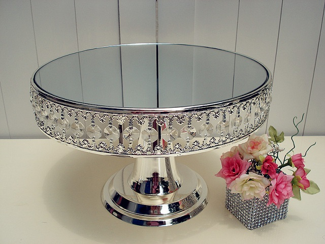 3011 Silver Plated Crystal Senior Plummeted Into The Cake Stand /wedding  Gift/ HOME Decoration