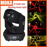 High Brightness 4*25W Mini Led Moving Head Beam Light 4in 1 Stage Professional Light for Dj Nightclub