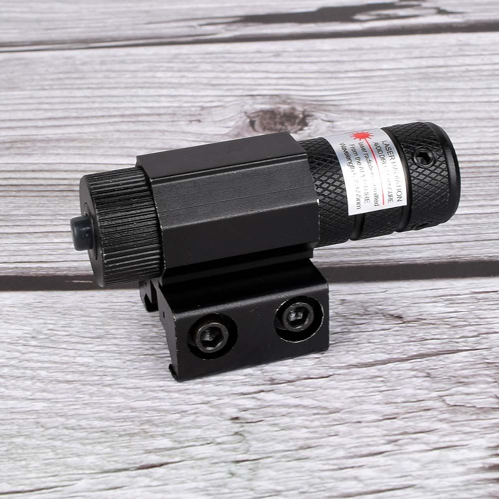 Powerful Tactical Mini Red Dot Laser Sight Scope Weaver Picatinny Mount Set for Gun Rifle Pistol Shot Airsoft Riflescope Hunting-4
