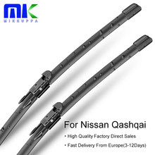 Mikkuppa Front Wiper Blades For Nissan Qashqai J10 J11 Model Year 2006-2018 Windscreen Wipers Auto Car Accessories(China)
