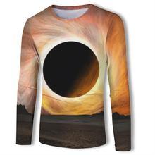 Black hole Long Sleeve Print t shirt 3d t-shirt Men Women tshirt Short Fashion Tee Unisex Top Male Streetwear 2019