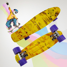 2016 New Children's scooter Space Graphic Printed Mini Cruiser Plastic Skateboard 22″ X 6″ Retro Longboard Skate Long Board CL30